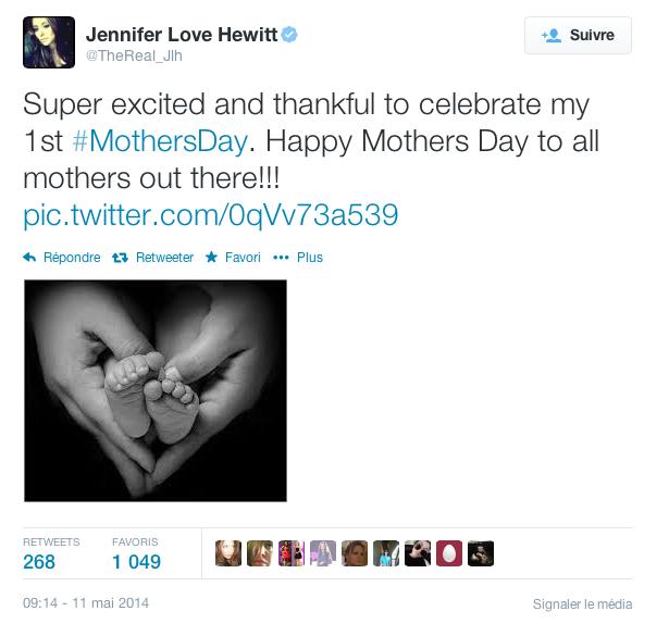 Jennifer Love Hewitt pour la fête des mères …