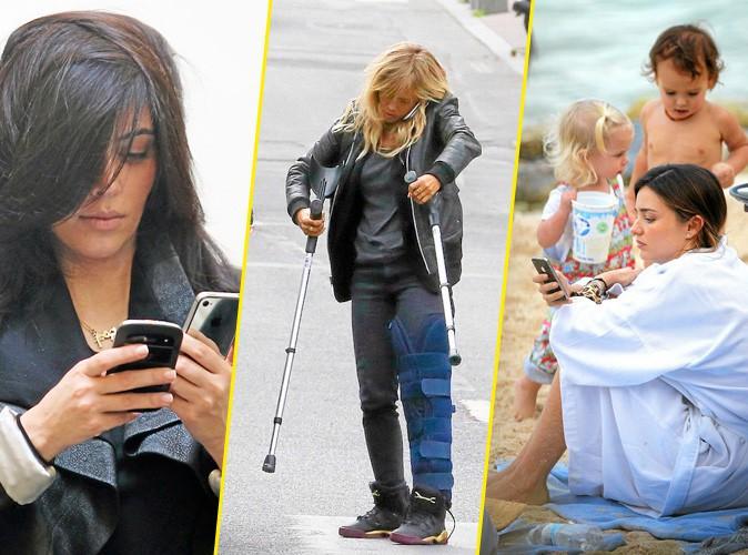 Découvrez ces people accros aux téléphones portables !