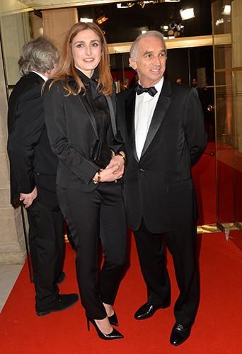 Julie Gayet et Alain Terzian à Paris le 28 février 2014