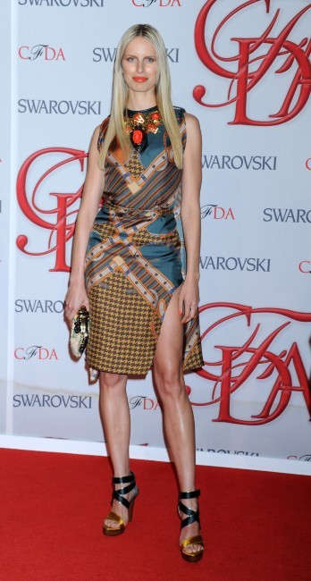 Karolina Kurkova lors des CFDA Fashion Awards à New York, le 4 juin 2012.