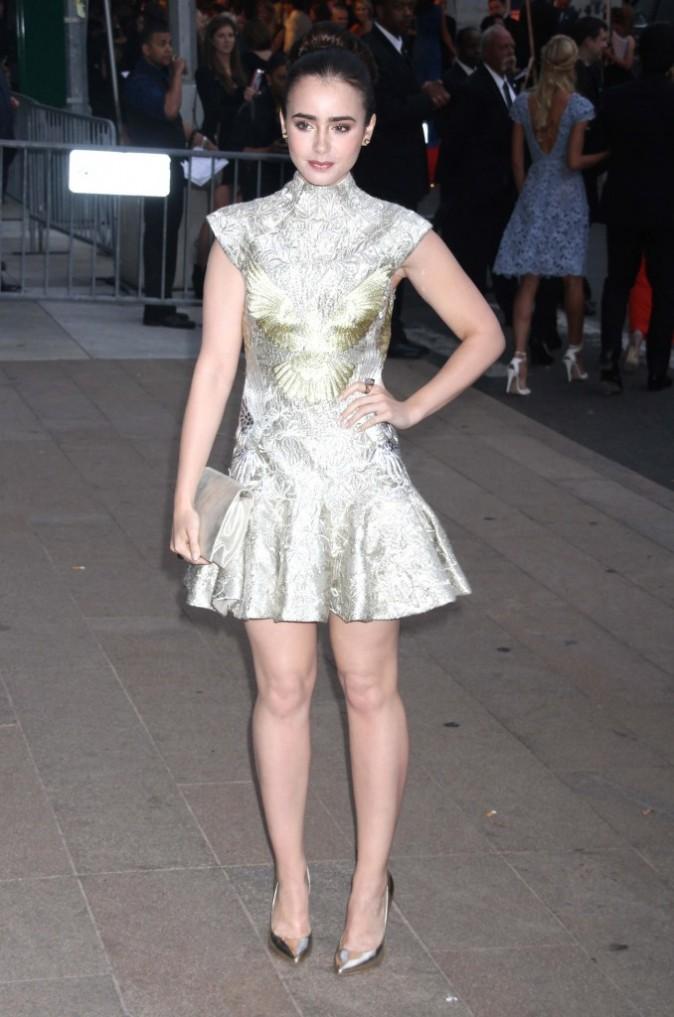 Lily collins lors des CFDA Fashion Awards à New York, le 4 juin 2012.