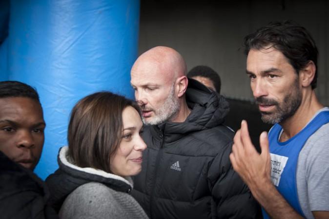 Nathalie Péchalat, Franck Leboeuf et Robert Pirès au Stade de France le 20 mai 2015