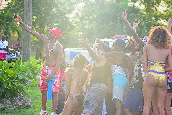 Lewis Hamilton à La Barbade le 2 août 2016