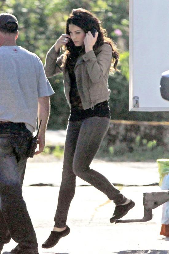 Jenna Dewan sur le tournage de Witches of East End à Vancouver le 19 juillet 2013