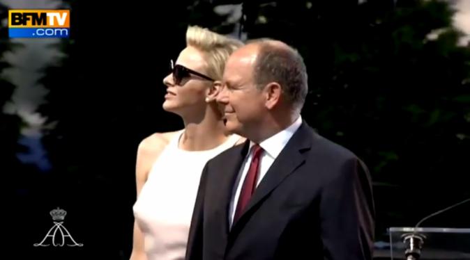 Charlene et Albert de Monaco le 11 juillet 2015
