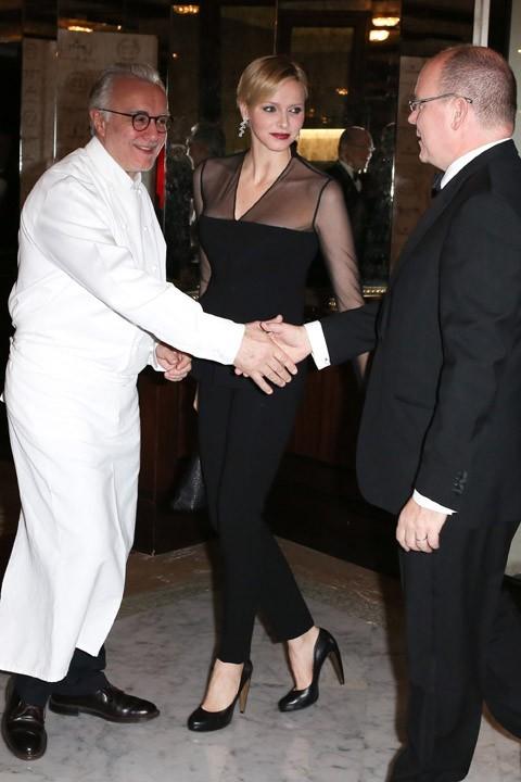 Charlene de Monaco aux 25 ans du restaurant Louis XV à Monaco le 17 septembre 2012