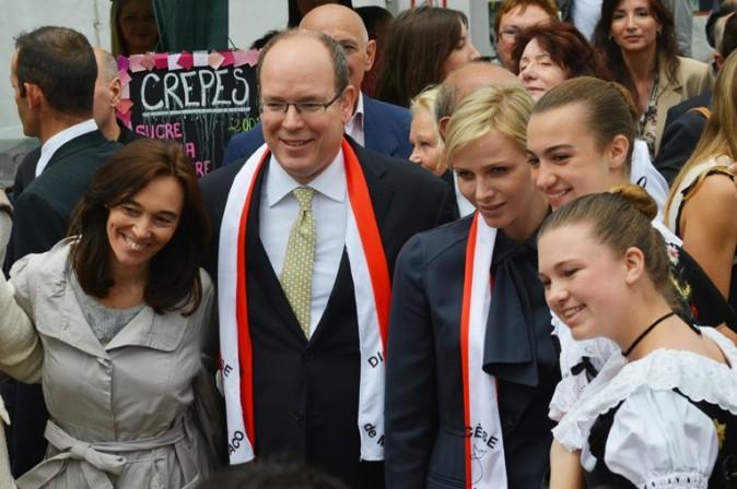 Charlène et Albert de Monaco en pélerinage à Lucciana, en Corse, le 20 mai 2013