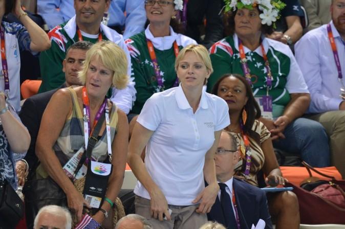 Charlene de Monaco le 29 juillet 2012 aux Jeux Olympiques de Londres