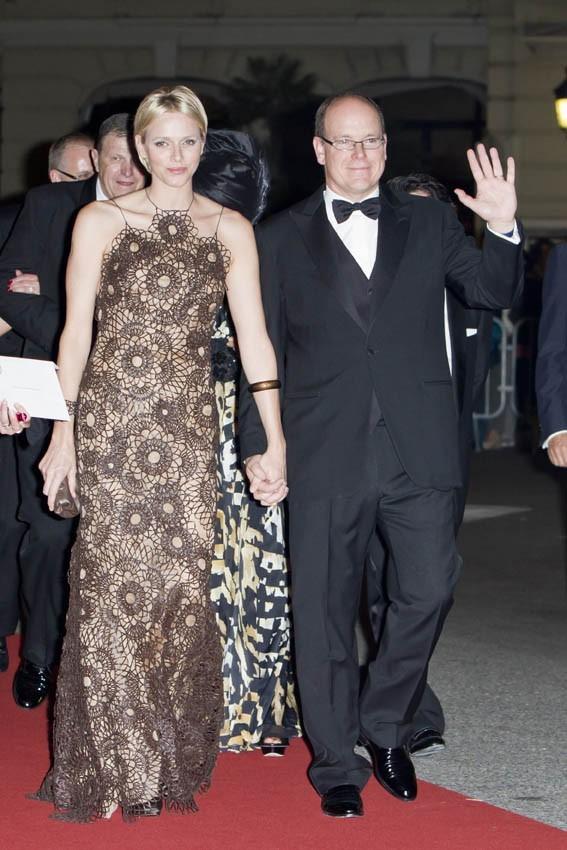 """Charlène et Albert de Monaco au gala """"A touch for Africa"""" le 29 septembre 2012"""
