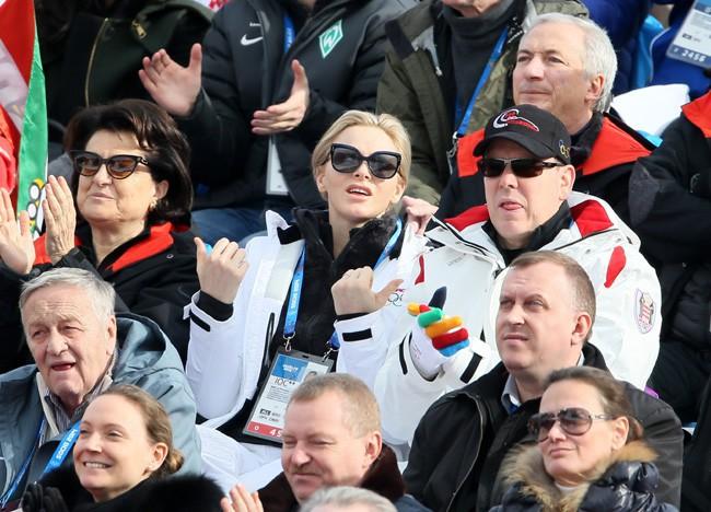 Charlène et Albert de Monaco à Sotchi le 9 février 2014