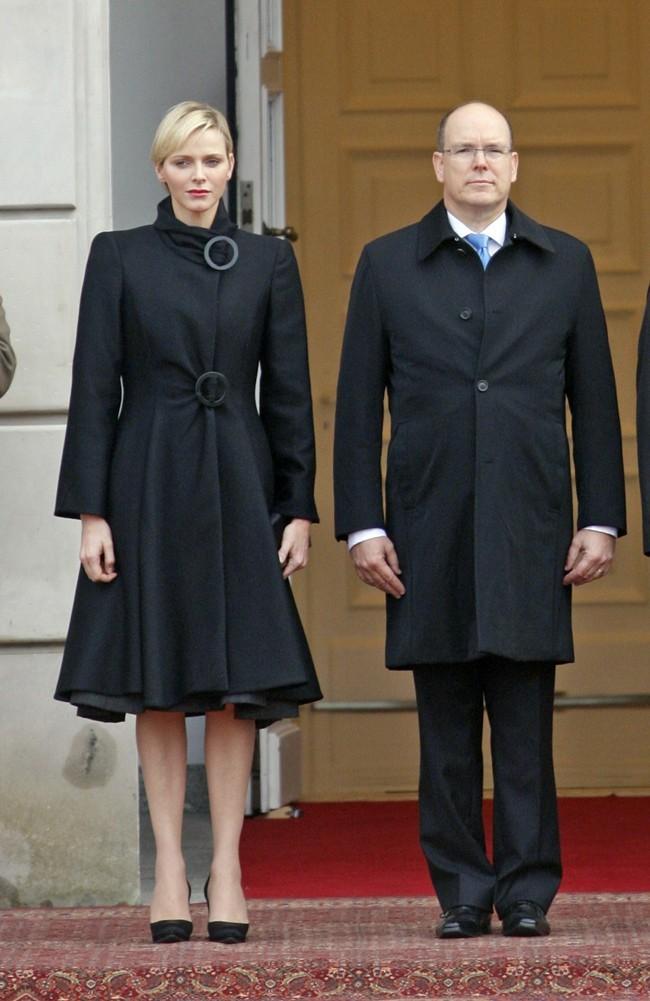 Charlene et Albert de Monaco le 17 octobre 2012 à Varsovie