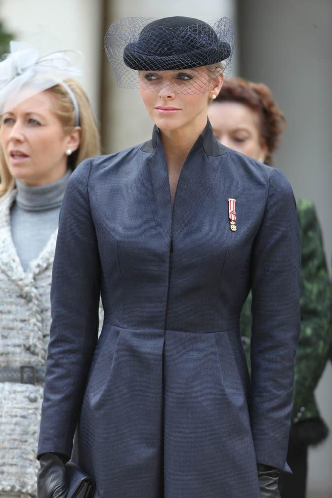 Charlene de Monaco célèbre la fête nationale monégasque le 18 novembre 2012