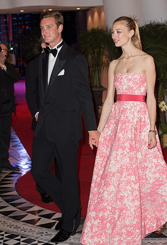 Pierre Casiraghi et Beatrice Borromeo à Monaco le 25 mai 2014