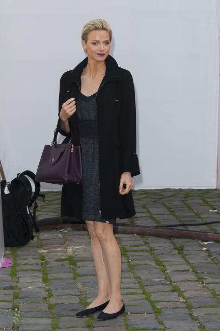 Charlène Wittstock lors du défilé Louis Vuitton à Paris, le 2 octobre 2013.