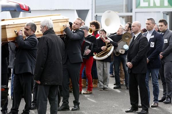 L'enterrement de Stéphane Charbonnier, alias Charb