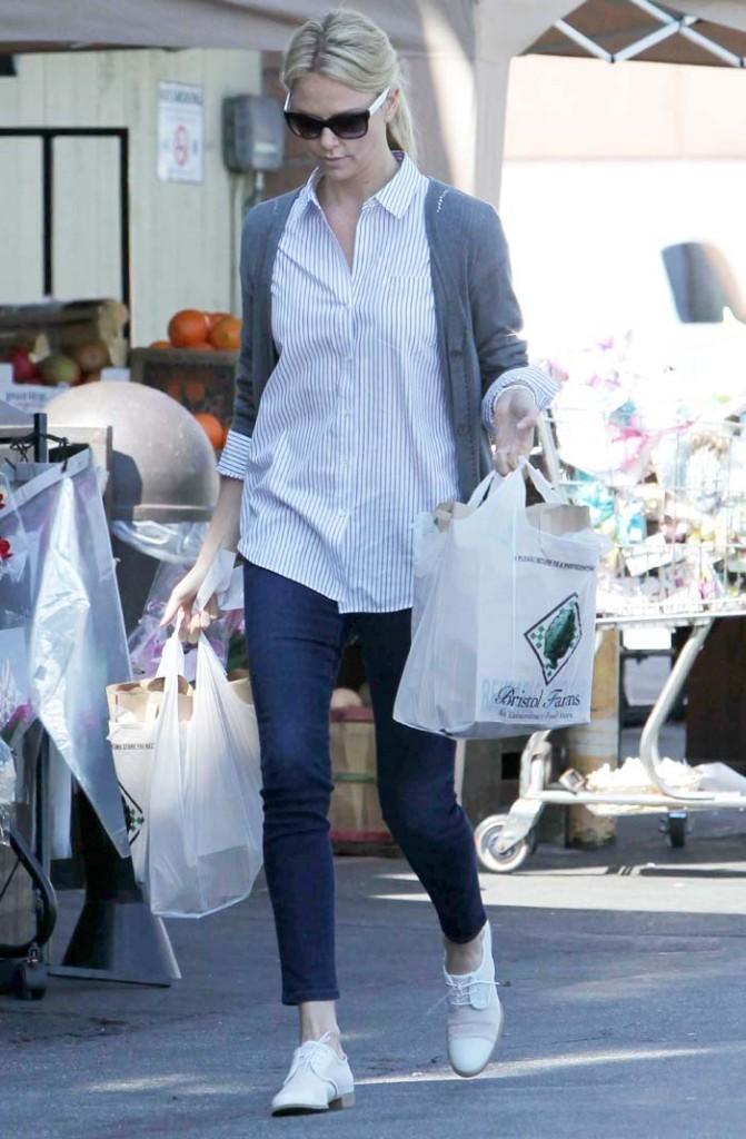 L'actrice est allée faire quelques courses