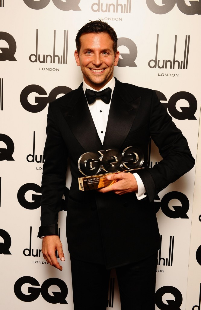 Bradley Cooper lors de la cérémonie des GQ Men of the Year Awards à Londres, le 6 septembre 2011.