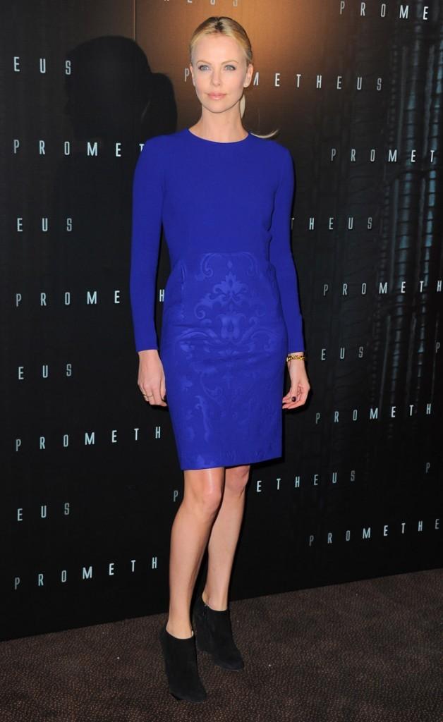 Charlize Theron à Paris pour la promo de Prometheus