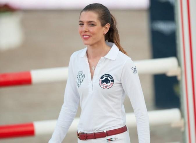 Charlotte Casiraghi à l'International Monte Carlo Jumping le 27 juin 2014