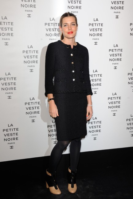 Charlotte Casiraghi lors de la soirée Chanel à Paris, le 8 novembre 2012.