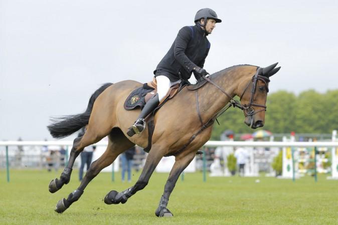 Guillaume Canet au jumping de Chantilly