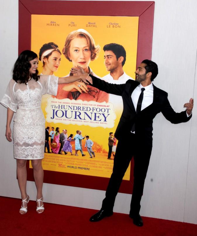 Charlotte Le Bon et Manish Dayal à l'avant-première New Yorkaise de The Hundred-Foot Journey le 4 août 2014