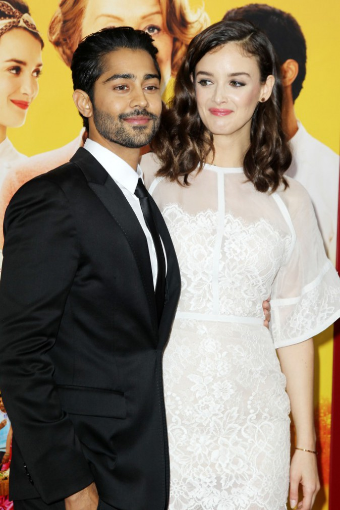 Charlotte Le Bon et Manish Dayal à l'avant-première New Yorkaise de The Hundred-Foot Journey le 4 août 2014