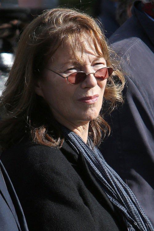 Jane Birkin aux obsèques de Jean-Noël Tassez à Paris, le 9 octobre 2015