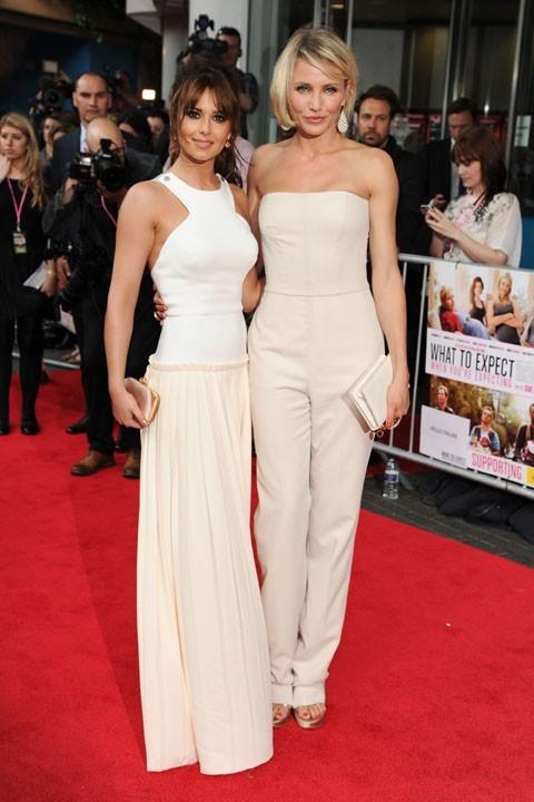 Cheryl Cole et Cameron Diaz à la première de Ce qui vous attend si vous attendez un enfant à Londres