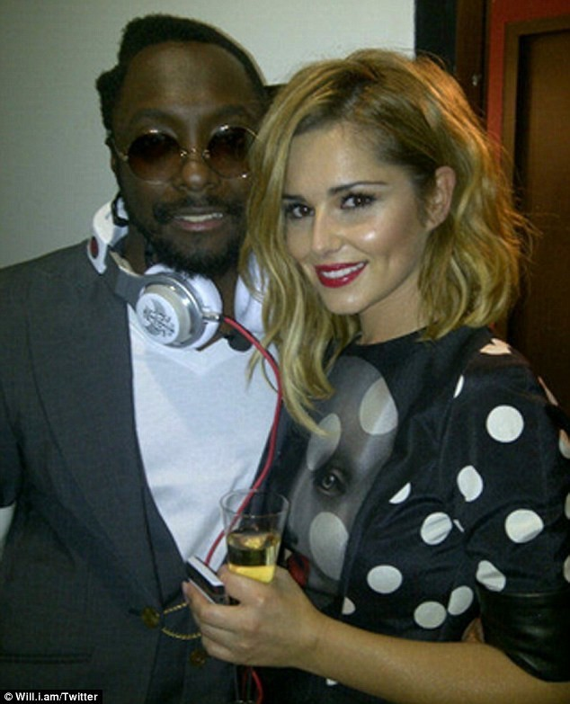 Cheryl Cole avec son ami et manager Will.i.am (des Balck Eyed Peas) lors de la soirée HTC and Beats Audio à Londres, le 6 octobre 2011.