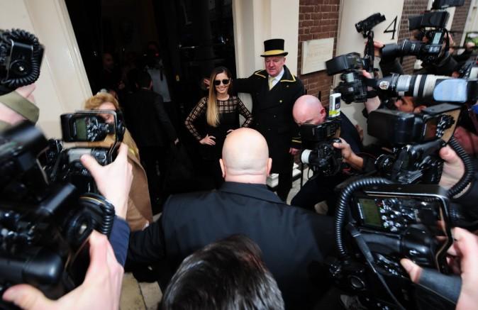 Cheryl Cole lors de la conférence de presse de l'émission X Factor à Londres, le 11 mars 2014.