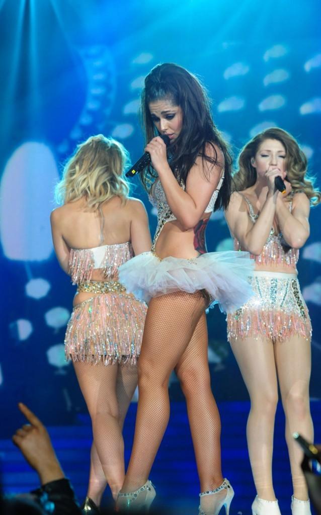 Cheryl Cole en concert avec les Girls Aloud à Newcastle le 21 février 2013