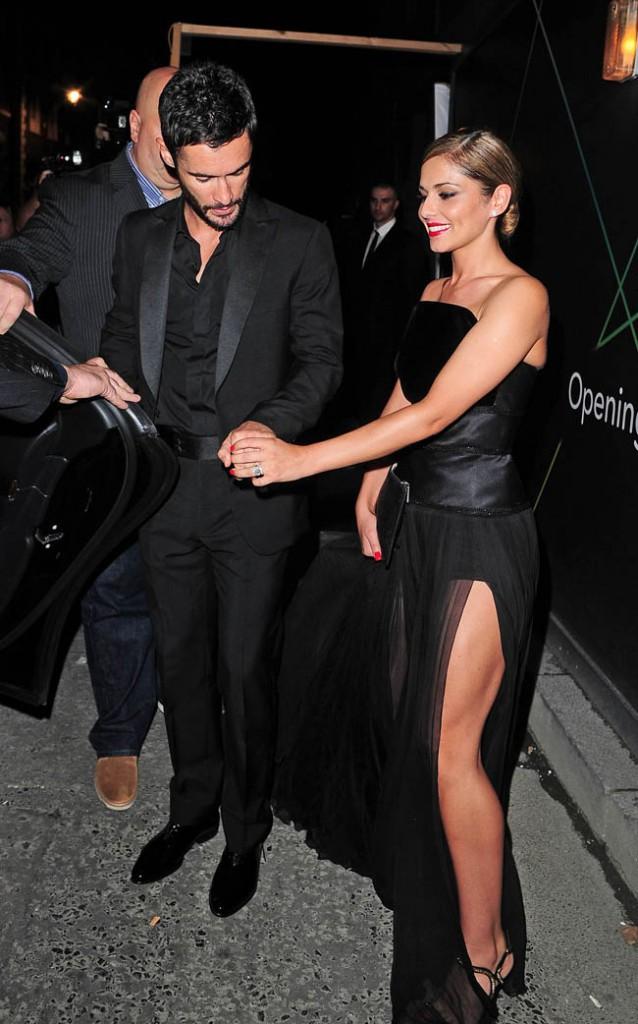 Cheryl et Jean-Bernard Fernandez-Versini à Londres le 21 juillet 2014