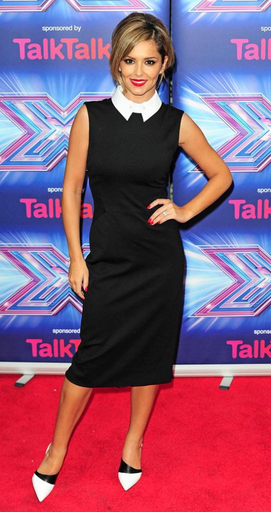 Cheryl Fernandez-Versini à la conférence de presse X-Factor UK organisée à Londres le 27 août 2014