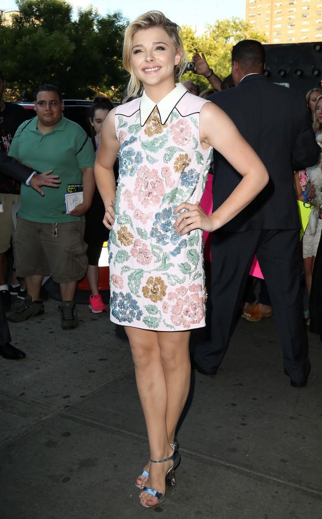 Chloë Moretz à New York le 18 août 2014