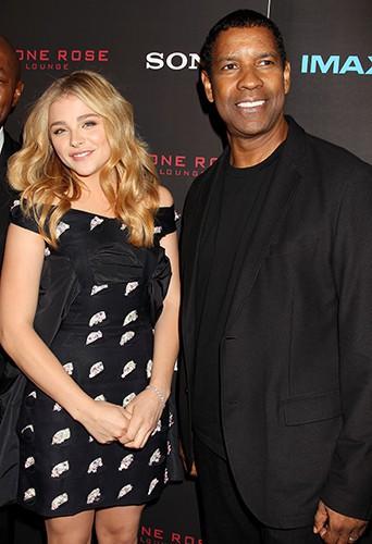 Chloë Moretz et Denzel Washington à New York le 22 septembre 2014