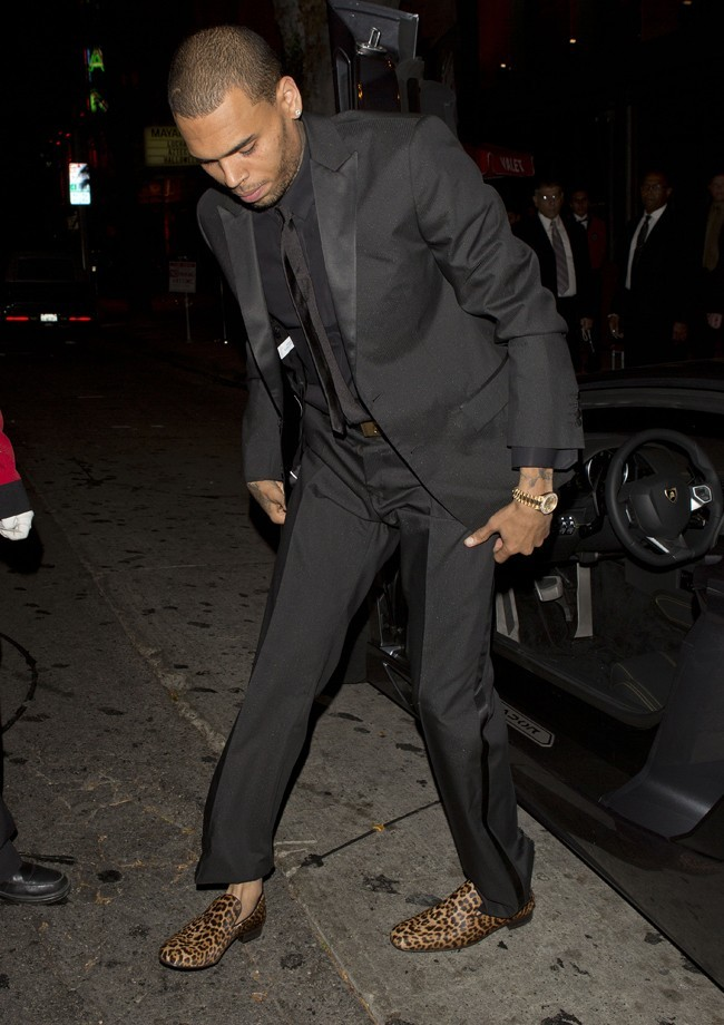 Chris Brown à l'anniversaire de David Furnish à Los Angeles le 25 octobre 2012