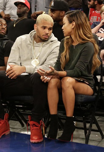 Chris Brown et Karrueche Tran à New York le 20 août 2014