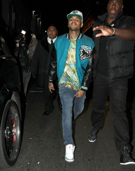 Chris Brown à Hollywood le 3 janvier 2013