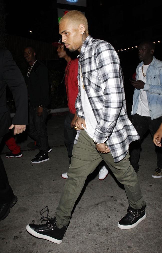 Chris Brown à Hollywood pour fêter ses 24 ans le 3 mai 2013