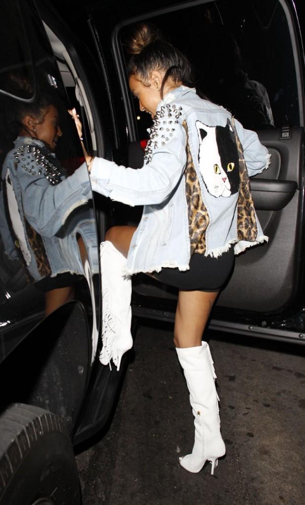 Karrueche Tran à l'anniversaire de Chris Brown à Hollywood le 3 mai 2013