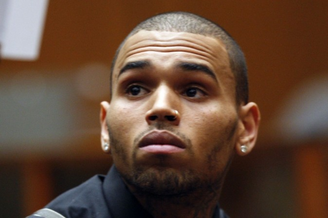 Chris Brown au tribunal hier