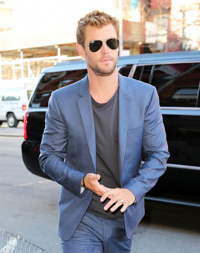Chris Hemsworth le 12 janvier 2015