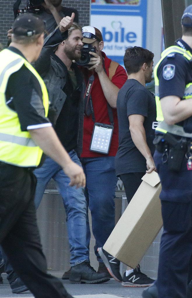 """Chris Hemsworth sur le tournage de """"Thor"""" en Australie ce dimanche 21 août"""