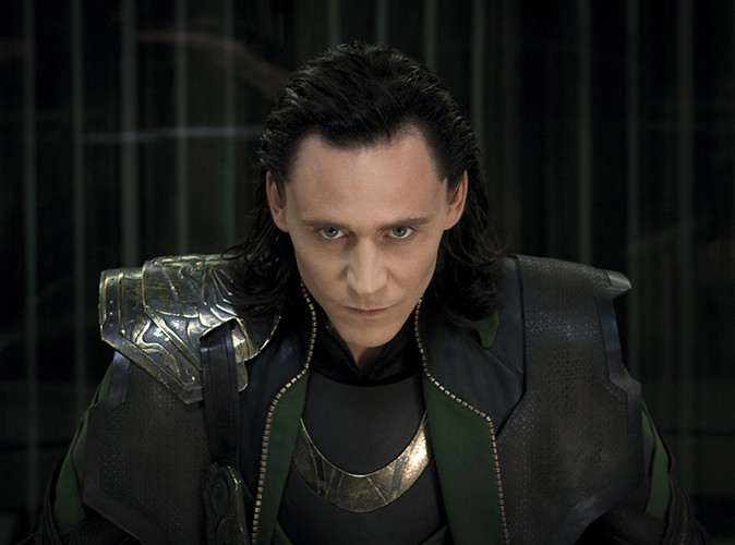 Tom Hiddleston dans le rôle de Loki (Thor, The Avengers)
