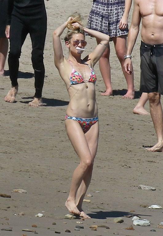 Kate Hudson et Chris Martin à Malibu le 14 mars 2015