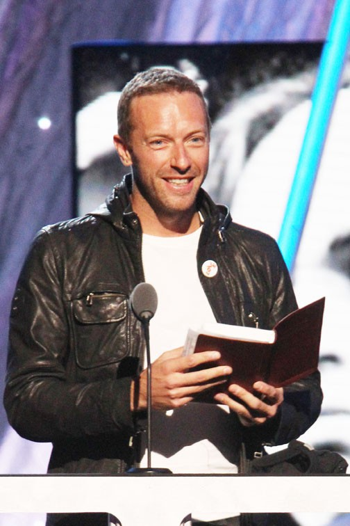 Chris Martin à New-York le 10 avril 2014