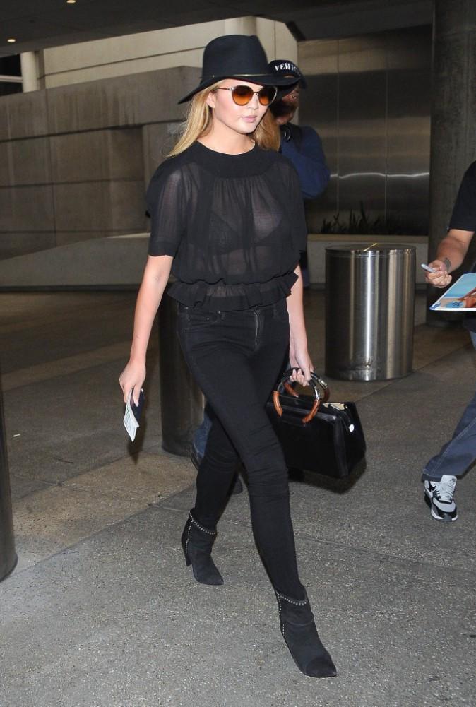 Chrissy Teigen à Los Angeles, le 8 juillet 2015