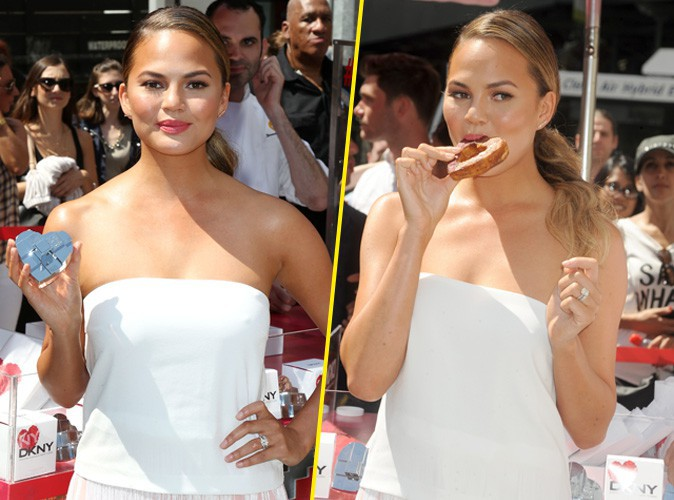 Chrissy Teigen à New York le 19 août 2014