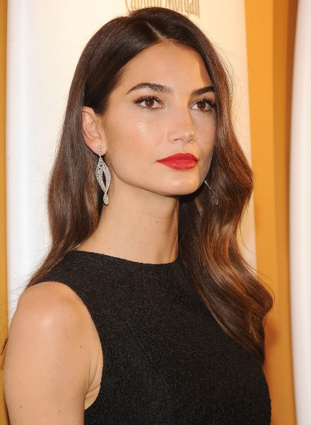 "Lily Aldridge lors de la soirée ""Sports Illustrated"" à New York, le 18 février 2014."
